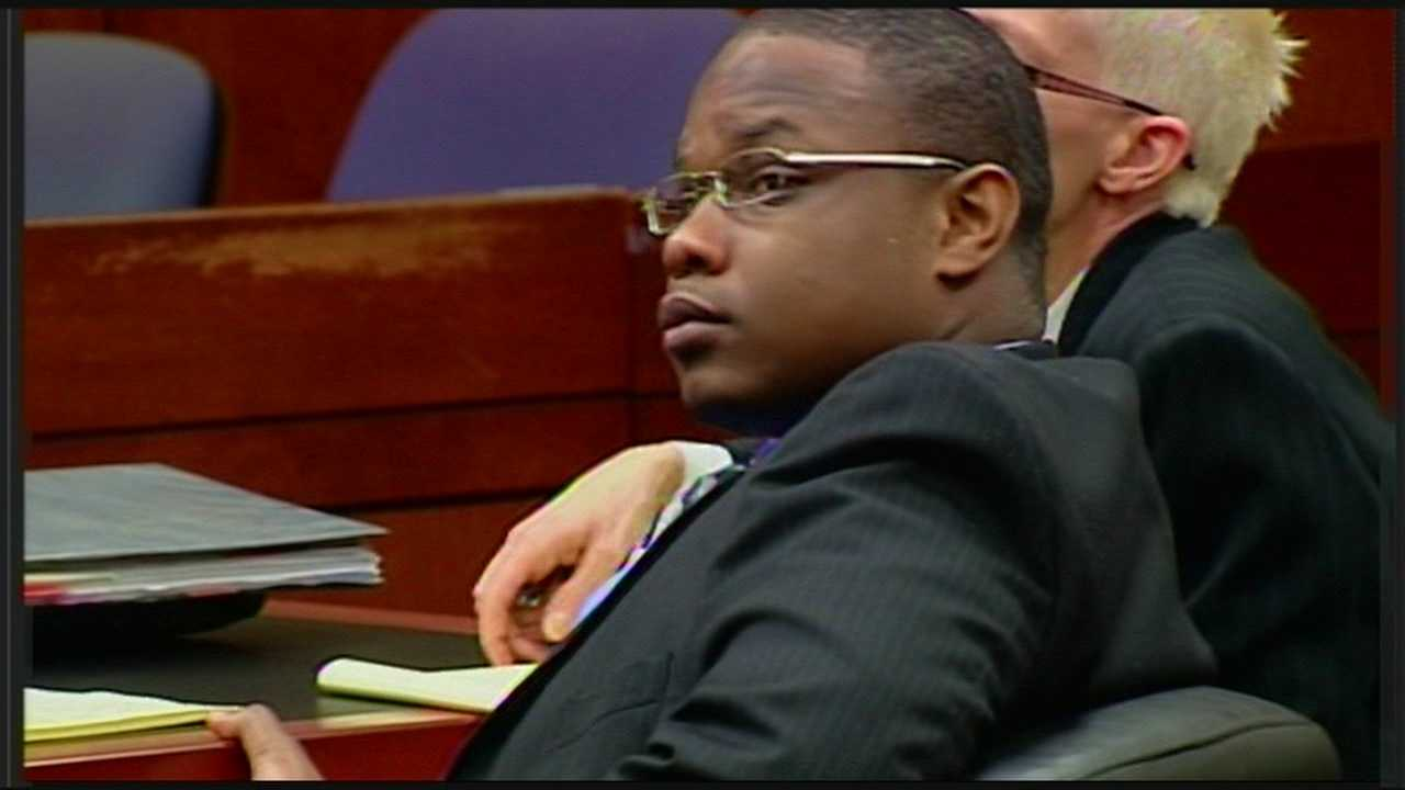 First there was a mistrial and now the second trial is underway for a man charged with killing a witness in a murder case.