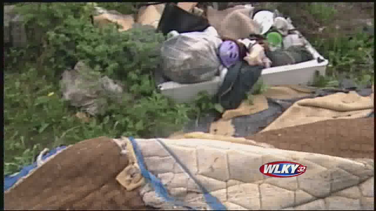 Loads of junk have been dumped on private property, and now the city is trying to combat the practice.