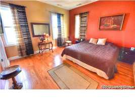 Beautiful hardwood floors in this bedroom, there are 2 other rooms in the home.