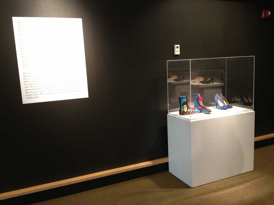 Both exhibits run through July 7. Anyone who donates a new or gently used pair of shoes will receive $2 off admission.