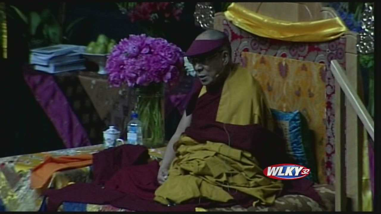Peace, love and compassion -- that's the message from the Dalai Lama, who is in the midst of his second trip to Louisville.