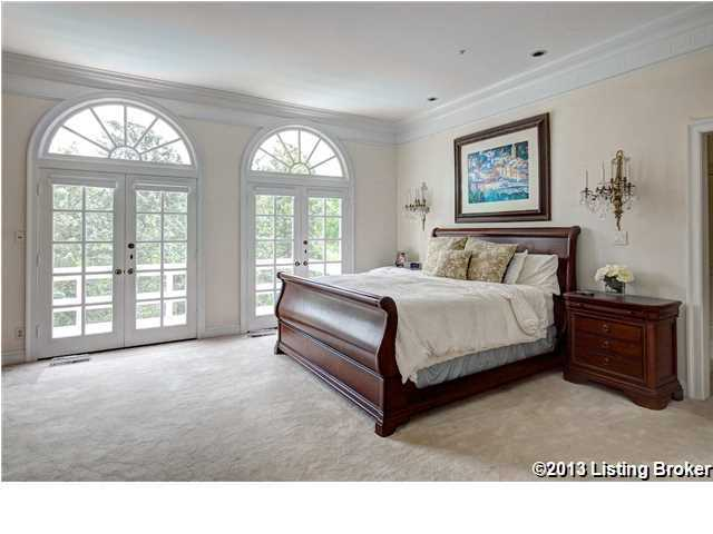 Private balcony in the  very spacious master bedroom.