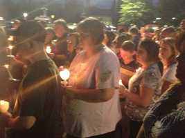 May 27, 2013:Hundreds gather for a candlelight vigil in Ellis' honor on Memorial Day
