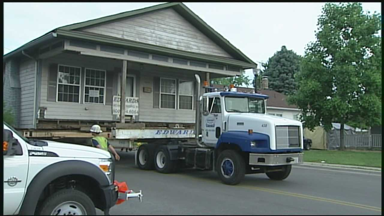 Some southern Indiana homes are being relocated to make way for the new downtown crossing.