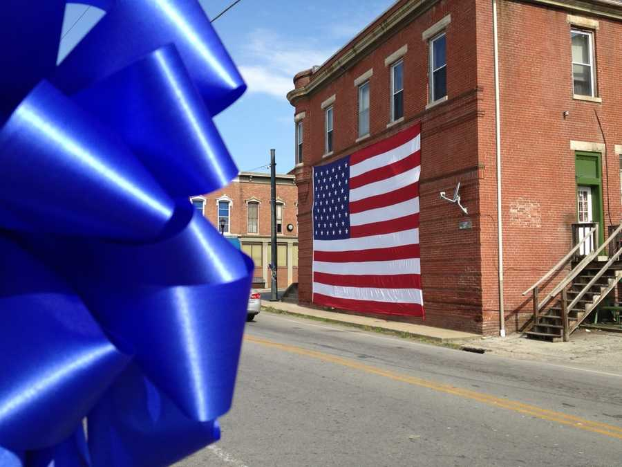 May 30, 2013: The town of Bloomfield displays symbols of remembrance for Officer Ellis.