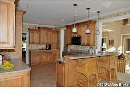 Charming kitchen makes you feel right at home.