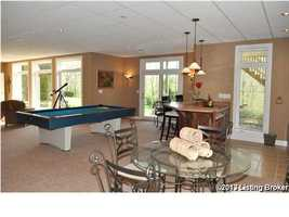Renovated basement for all types of entertainment.