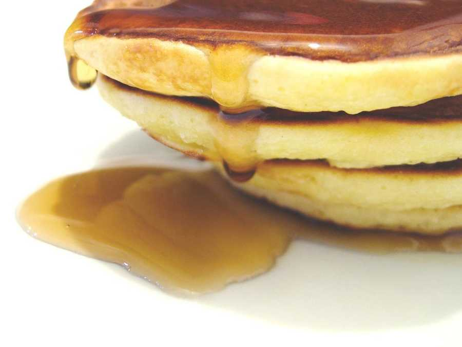 """We can all agree that pancakes are tastier with syrup, but it seems the country is divided on what to call the sugary topping. About half call it """"sir-up,"""" but 34% pronounce it """"sih-rup"""" and 13% call it """"sear-up."""" Read more here"""