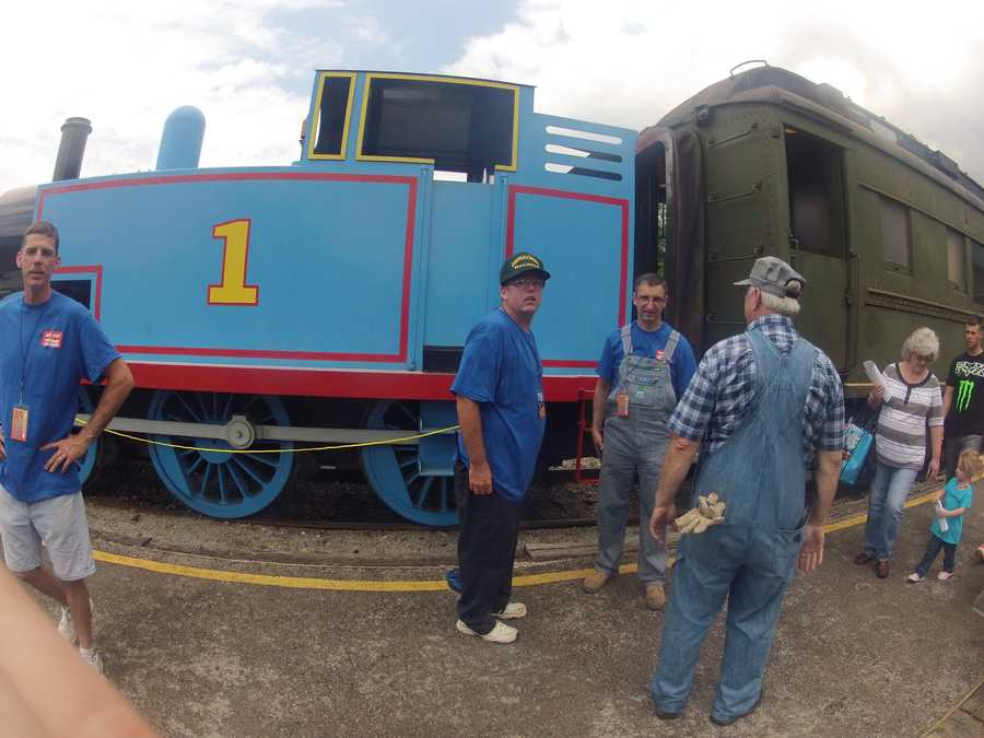 It's one of more than 40 stops on the storybook train's tour this year.