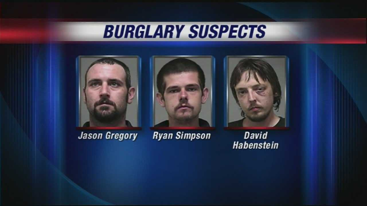 Three men are charged with a series of break-ins across Louisville, and police said heroin fueled it all.