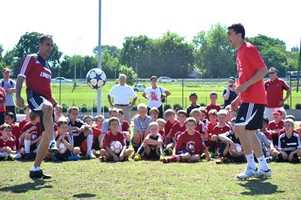U of L finished it's first week of Youth Soccer Camp. Over 200 kids participated in a full week of Ken Lolla's soccer camp. The second session begins July 22-26.