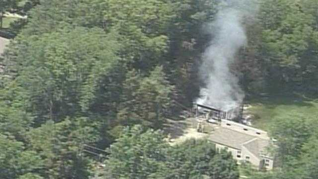 Emergency crews are on the scene of a garage fire in the Centerfield area north of Buckner.