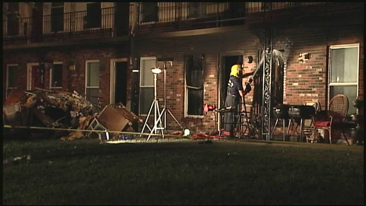 A baby was taken to the hospital after an apartment caught fire.