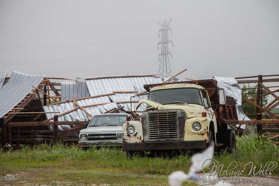Damage near Roanoke in Larue County after the storms from 6-26-2013