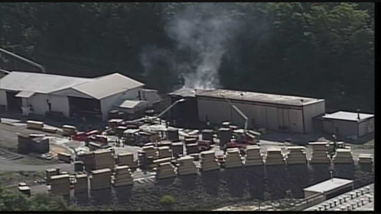 A fire at an Oldham County lumber company shut down Highway 146 for some time on Friday.