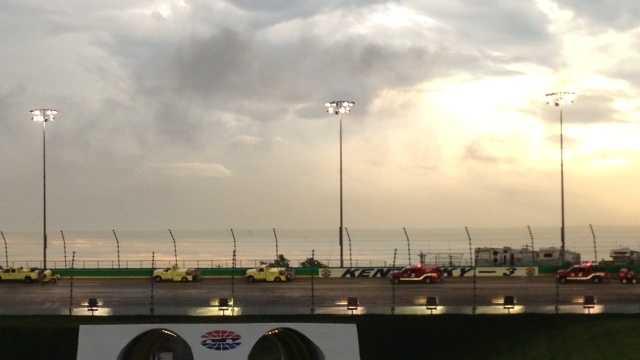 Officials postpone NASCAR Sprint Cup race