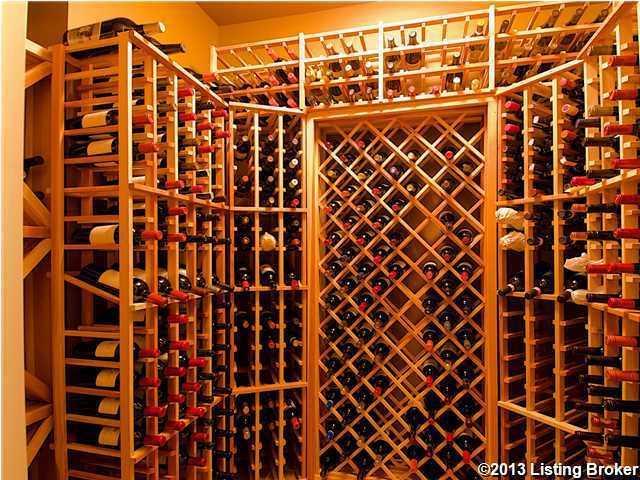 Impressive wine cellar.