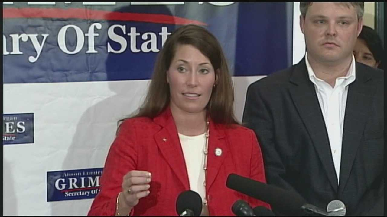 Kentucky Secretary of State Alison Lundergan Grimes announces she will challenge Sen. Mitch McConnell in 2014 race.