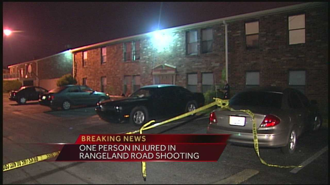 One person was taken to an area hospital after being shot in the Newburg neighborhood.