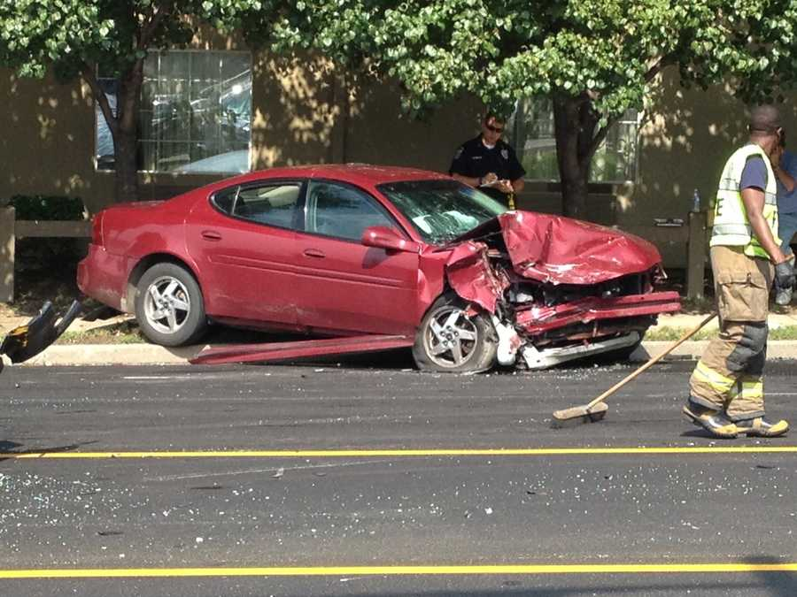 Two people were injured in an accident involving three vehicles on Crittenden Drive.