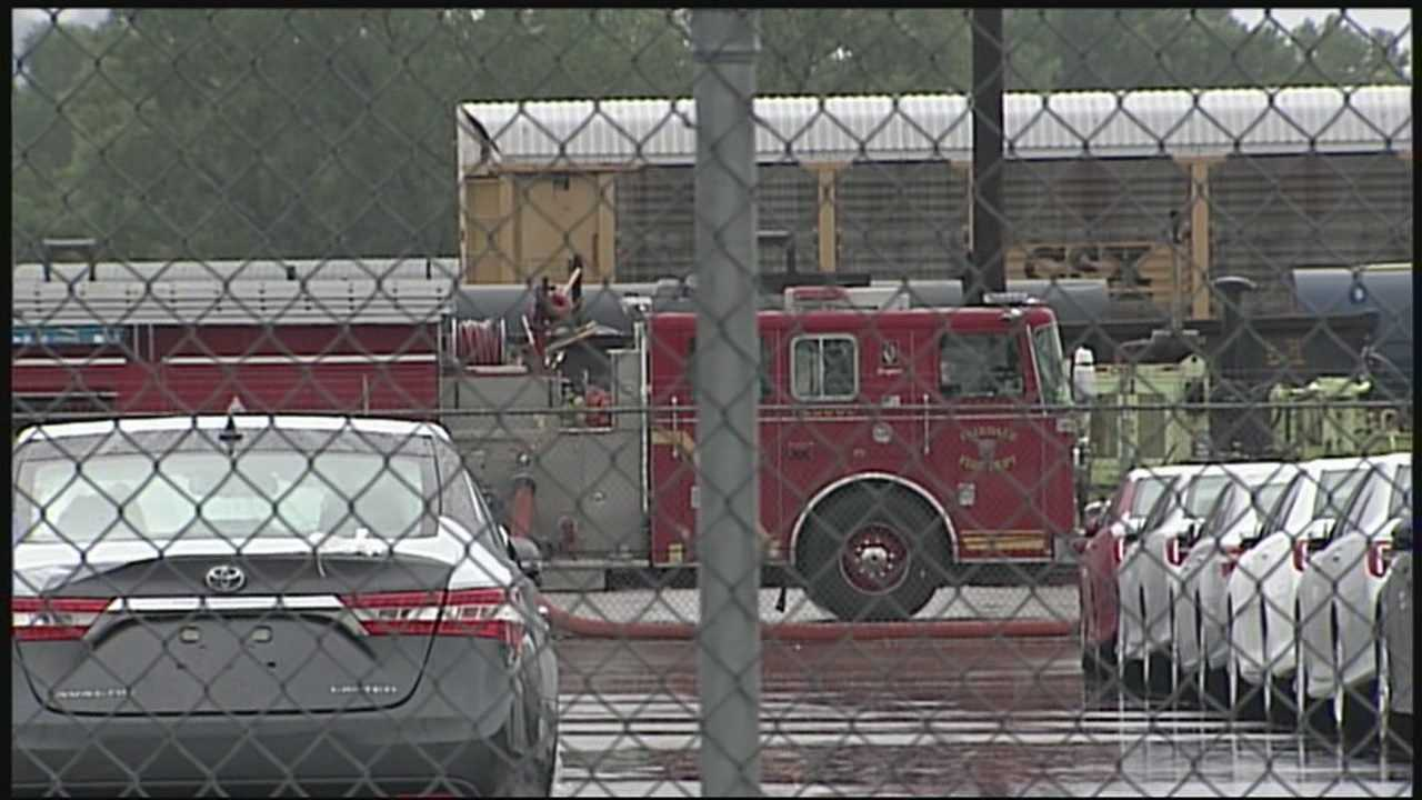 A small ammonia leak at CSX posed no danger to the public.