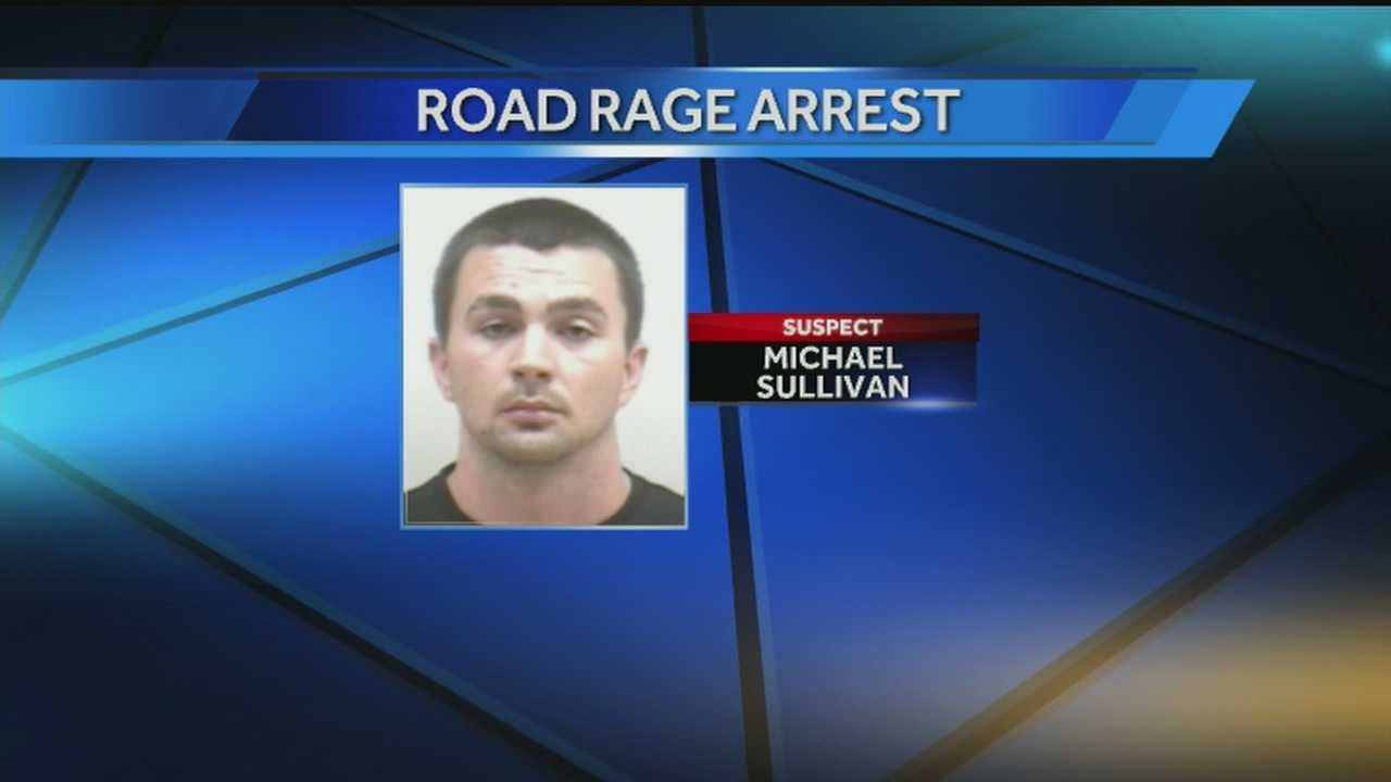 A Kentucky National Guardsman was arrested after police said he pulled a gun on another driver.