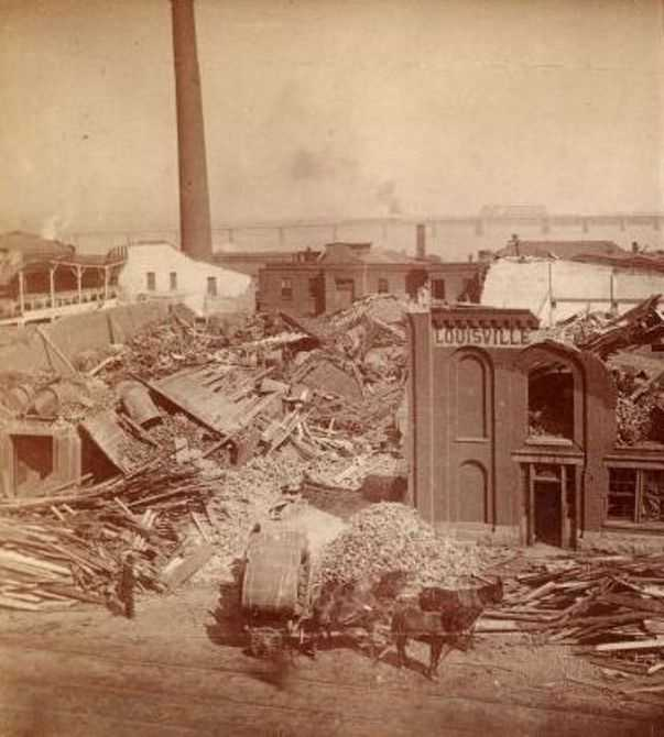 In 1890, Louisville had one of the largest tornadoes. It measured as an F4 on the Fujita scale, destroyed 766 buildings and killed 76-120 people.