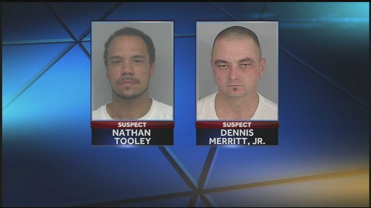 Police said two men broke into dozens of homes to support a heroin addiction.