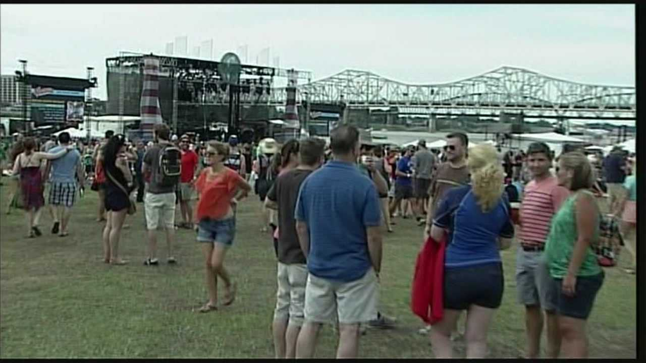 Fears about the weather prompted a short evacuation at the Forecastle Festival.