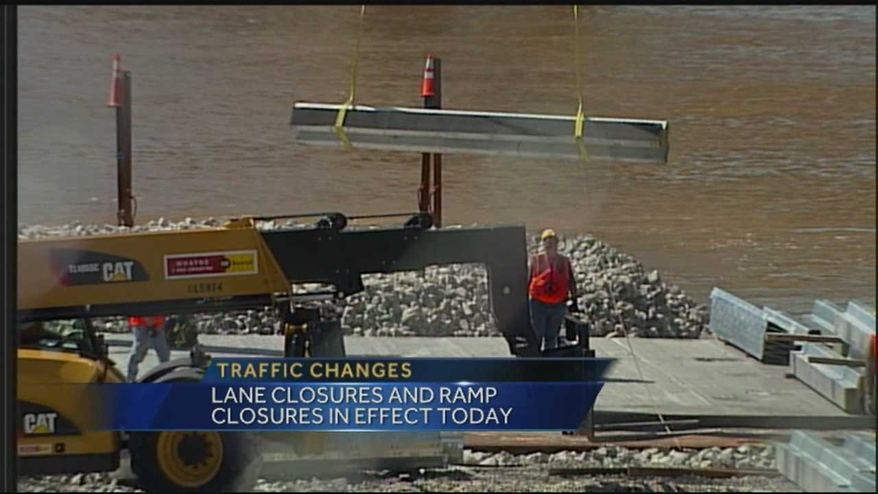Traffic will be affected as lane and ramp closures take effect