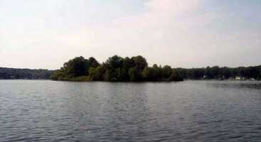 Underwood Island sits in beautiful Coventry Lake in northeastern Connecticut.