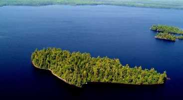 Pine Island is a very private 12-acre island located in the middle of Meddybemps Lake, in the township of Alexander.