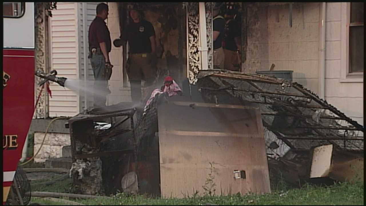 No one was injured, but a family cat was killed after a house caught fire.