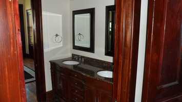 Second floor bathroom after