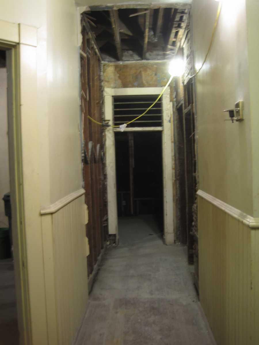 Second floor hallway before