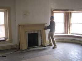 Third floor bedroom before