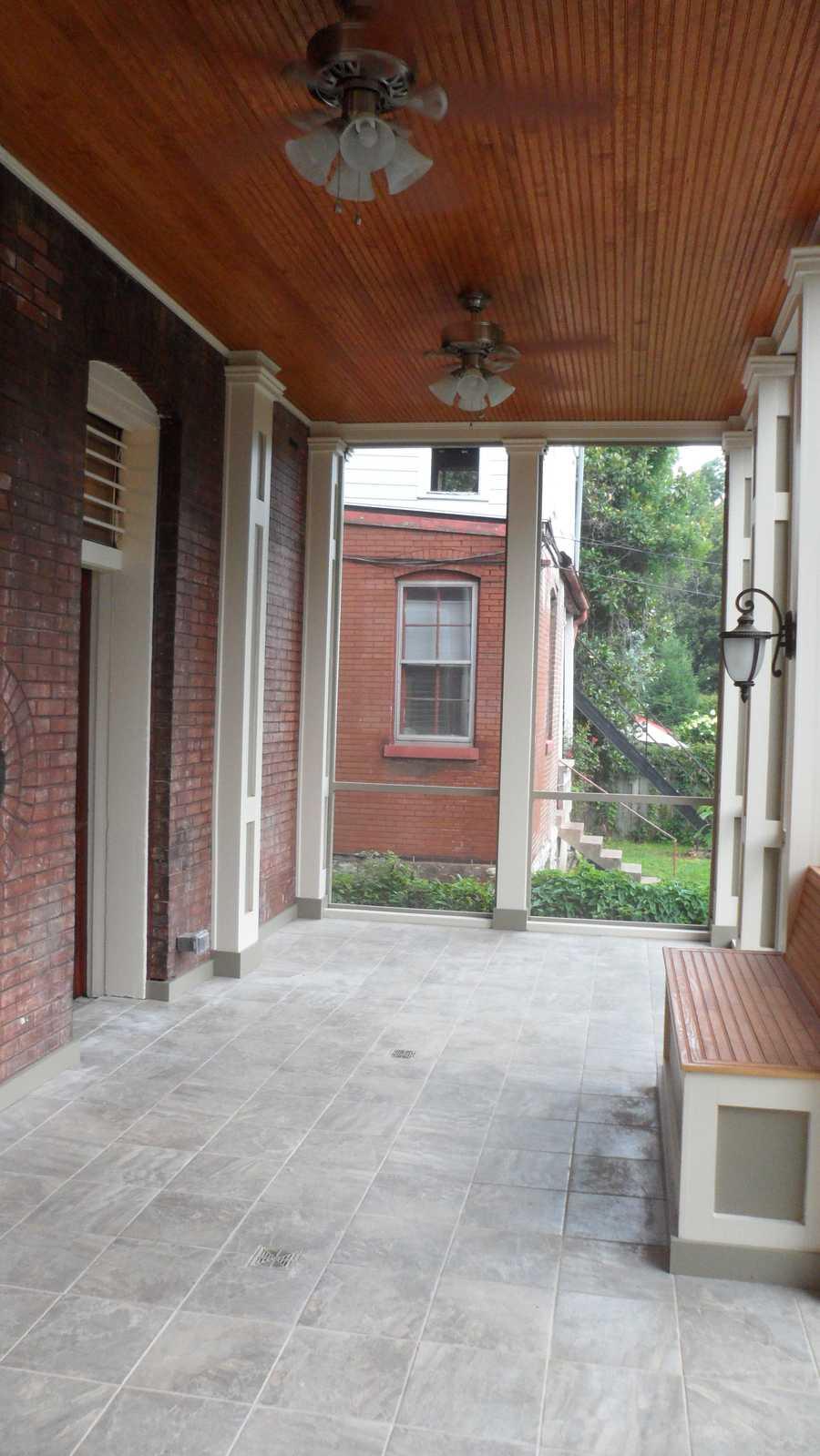 Back porch after