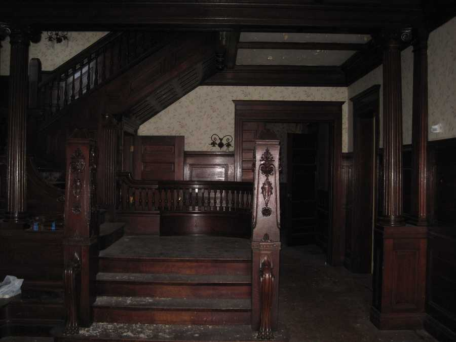Entry staircase before