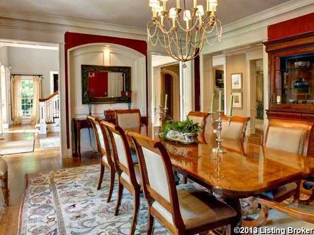 Quirky elegant decor makes this formal dining room fun.