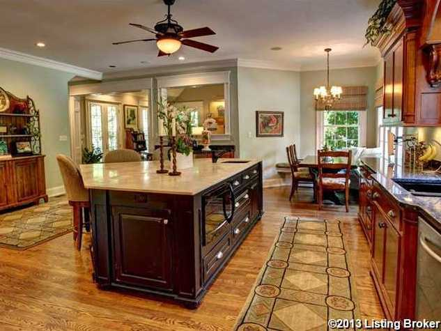 This alternate view of the kitchen showcases the beautiful kitchen.