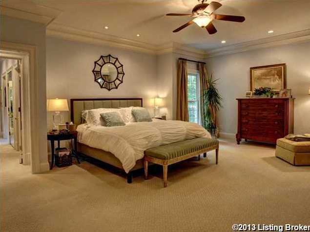 The master bedroom is quite spacious.