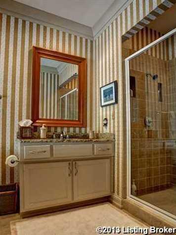 Conjoined bathroom.