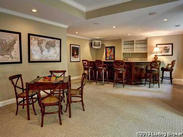 What basement is complete without a bar?