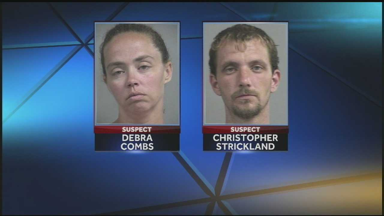 A couple found living in an abandoned house with six children appeared before a judge to face child neglect charges.