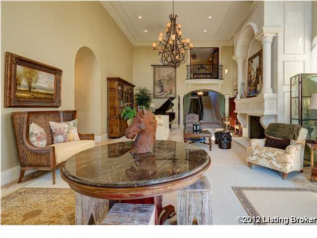 Alternate view of the formal living space shows just how elegant this room is.