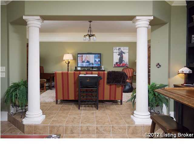 View of the private, cozy family room.