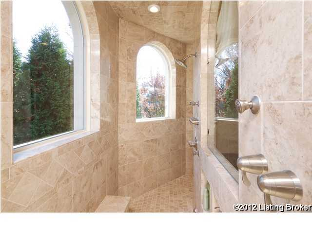 Luxurious shower quarters with a masterful view.