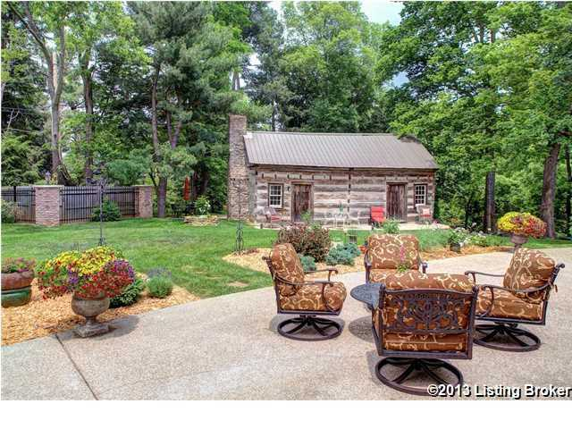 The authentic Tennessee log cabin dating from the 1860's, moved and reassembled here.