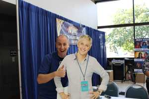 Assistant creative services director Paul Chaplin is excited to see Ellen at the fair.