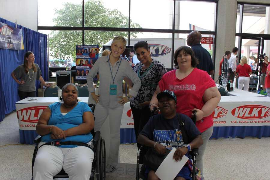 Morning anchor Monica Hardin, Ellen and friends.